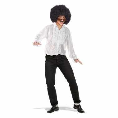 Toppers - wit disco verkleed shirt met rouchescarnavalskleding