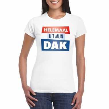 Toppers - wit helemaal uit mijn dak t-shirt damescarnavalskleding