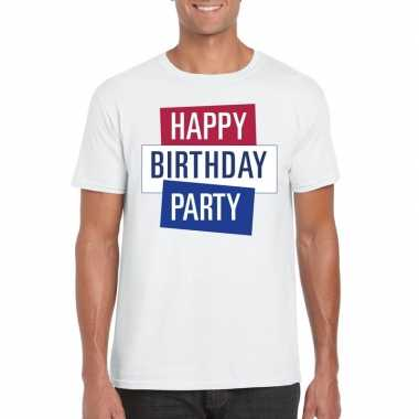 Toppers - wit toppers happy birthday party heren t-shirt officieelcar