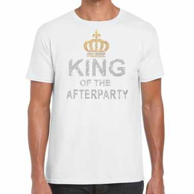 Toppers - wit toppers king of the afterparty glitter t-shirt herencar