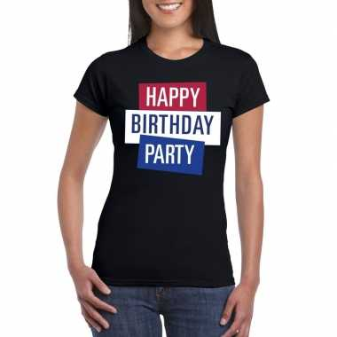 Toppers - zwart toppers happy birthday party dames t-shirt officieelc