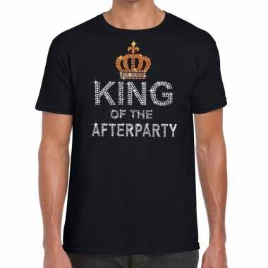 Toppers - zwart toppers king of the afterparty glitter t-shirt herenc