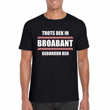 Trots dek in broabant geborruh ben heren t-shirt zwartcarnavalskledin