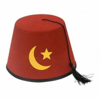 Turks hoedje roodcarnavalskleding