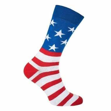 Usa amerika feest carnaval sokken volwassenen carnavalskleding