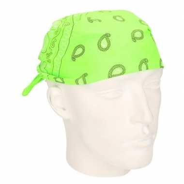 Verkleed bandana neon groen carnavalskleding