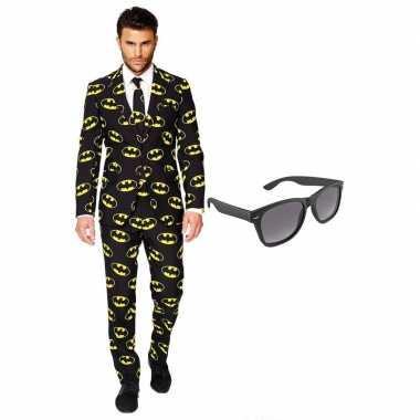 Verkleed batman net heren kostuum maat 54 xxl met gratis zonnebril carnavalskleding
