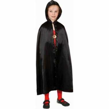 Verkleed cape zwart voor kinderen carnavalskleding