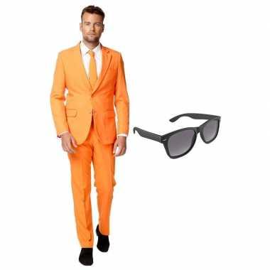 Verkleed oranje net heren kostuum maat 56 (xxxl) met gratis zonnebril