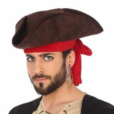 Verkleedaccessoires piraten hoed voor volwassenencarnavalskleding