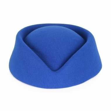 Verkleedaccessoires stewardess hoedje voor damescarnavalskleding