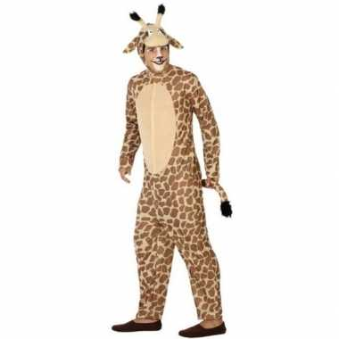 Verkleedkleding giraf voor heren/damescarnavalskleding