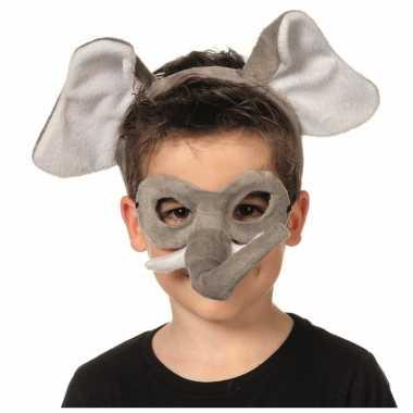 Verkleedpartij setje olifant voor kinderen carnavalskleding