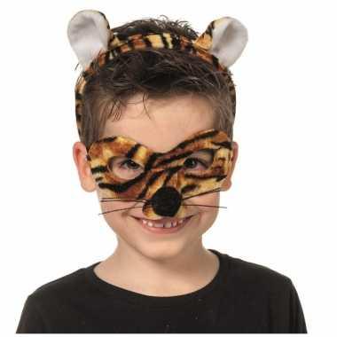 Verkleedpartij setje tijger voor kinderencarnavalskleding