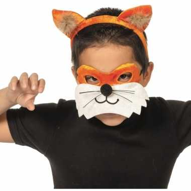 Verkleedpartij setje vos voor kinderencarnavalskleding