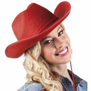 Vilten cowboyhoed roodcarnavalskleding