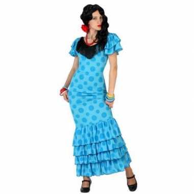 Voordelige blauwe spaanse jurkcarnavalskleding