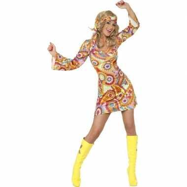 Voordelige hippie jurkje voor damescarnavalskleding