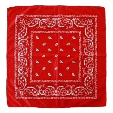 Voordelige rode boeren zakdoek 53 x 53 cmcarnavalskleding