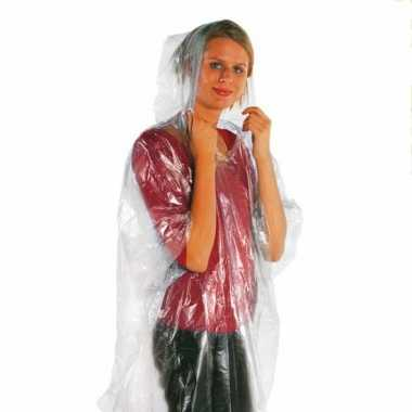 Voordelige transparante regenponcho s carnavalskleding