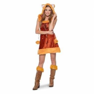 Vos dieren verkleedkleding voor damescarnavalskleding