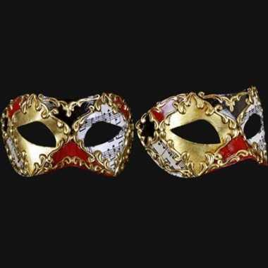 Wandversiering italiaans carnaval van venetie oogmasker carnavalskleding