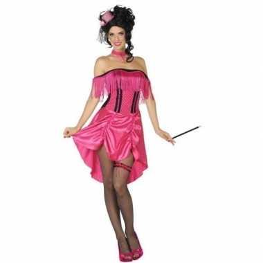 Western bordeel prostituee verkleed jurk roze voor damescarnavalskled