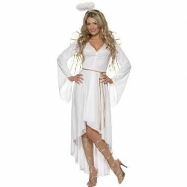 Wit engelen kostuum voor dames carnavalskleding