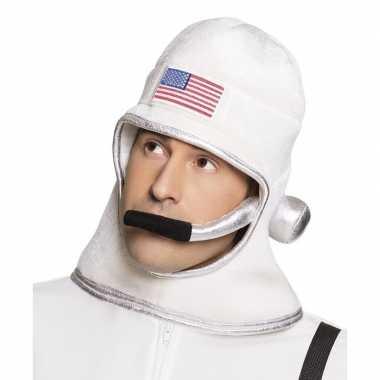 Witte ruimte helm voor volwassenencarnavalskleding