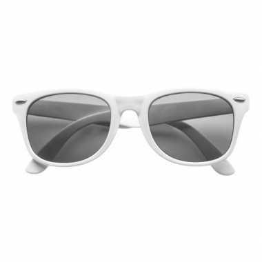 Witte toppers verkleedaccessoire bril voor volwassenencarnavalskledin