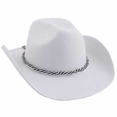 Witte western hoedcarnavalskleding