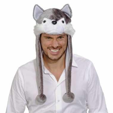 Wolf feestmuts voor volwassenencarnavalskleding