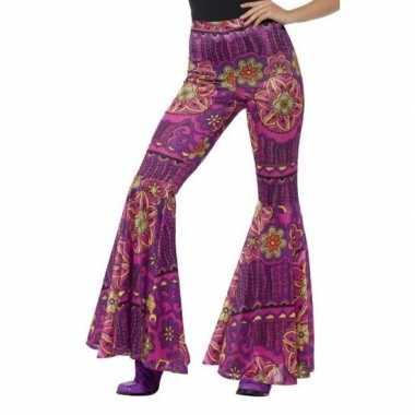 b0606f6a5f3215 Woodstock broek paars roze voor damescarnavalskleding ...