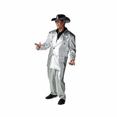 Zilveren verkleed kledingcarnavalskleding