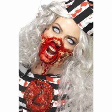 Zombie latex make-up setcarnavalskleding