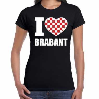 Zwart i love brabant t-shirt damescarnavalskleding