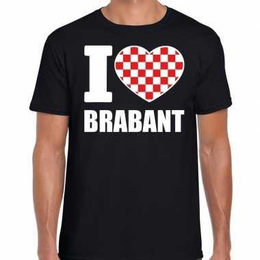 Zwart i love brabant t-shirt herencarnavalskleding