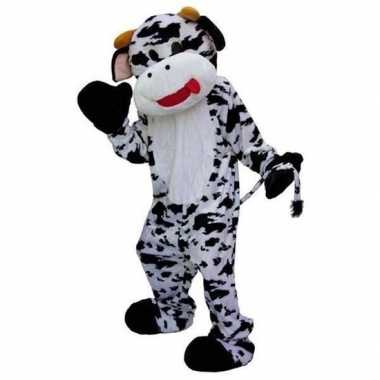 Zwart met wit koeien pakcarnavalskleding
