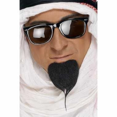 Zwarte arabier baardcarnavalskleding