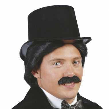 Zwarte hoge hoed van plasticcarnavalskleding