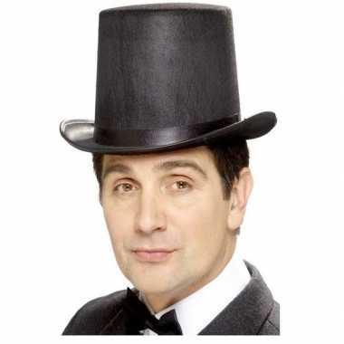 Zwarte hoge hoed vilt voor mannencarnavalskleding