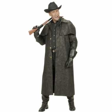 Zwarte lange cowboy jascarnavalskleding
