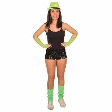 Zwarte pailletten hotpants voor damescarnavalskleding