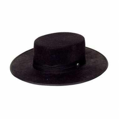 Zwarte spaanse hoedencarnavalskleding