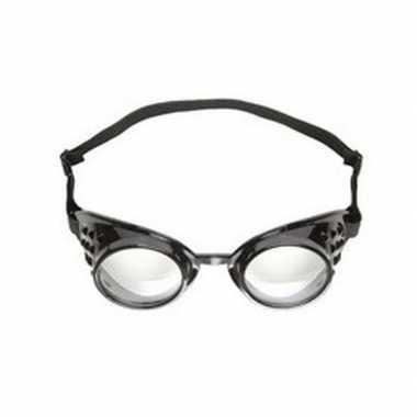 Zwarte streampunk lab bril voor heren dames carnavalskleding