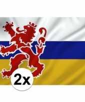 2x vlaggen van limburg carnavalskleding