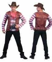 3d western shirt voor heren carnavalskleding