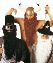 Bruine viking baard met snor carnavalskleding