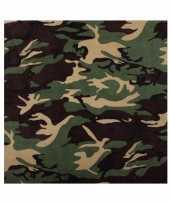 Camouflage militaire bandana 55 cm carnavalskleding