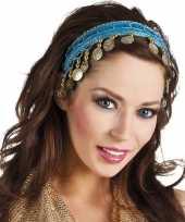 Carnaval esmeralda buikdanseres hoofdband turquoise blauw voor dames carnavalskleding